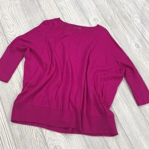 Anthropologie Oversized Pink Wool Sweater - sz M
